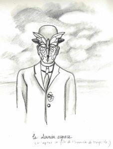 hommage à Magritte - le dernier espace