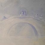 Le pont - détail de la fresque