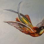 Détail de la fresque aux oiseaux
